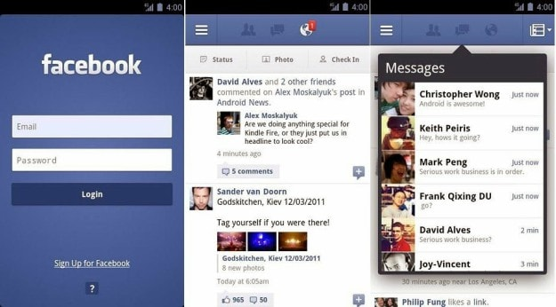 Facebook App features